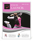 Beautiful dancer jumping on dark Flyer Templates