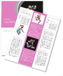Beautiful dancer jumping on dark Newsletter Template