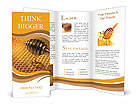 Cell filled with sweet honey Brochure Templates