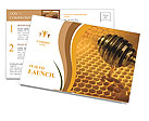Cell filled with sweet honey Postcard Template