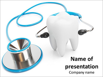 Diagnosis, treatment of teeth as part of their health PowerPoint Template