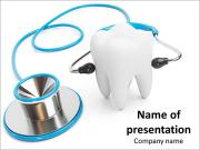 Diagnosis, treatment of teeth as part of their health PowerPoint Templates