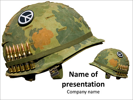 u s army helmet for peace powerpoint template backgrounds google