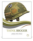 U.S. Army helmet for peace Poster Templates