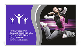 Attractive girl in modern dance Business Card Template