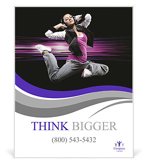 Attractive girl in modern dance Poster Template & Design ID ...