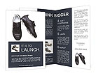 Soccer shoes on a white background Brochure Templates