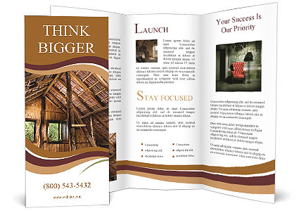 The Roof Of The Old House Brochure Template Design ID - House brochure template