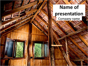 The roof of the old house PowerPoint Template