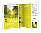 Sunset in a green park Brochure Templates