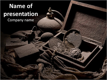 Old things, chest PowerPoint Template