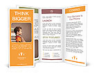 Schoolboy and books Brochure Template