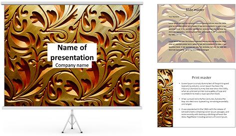 Ornement d'or classique Modèles des présentations  PowerPoint