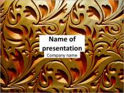 Classic golden ornament PowerPoint Templates
