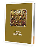 Classic golden ornament Presentation Folder