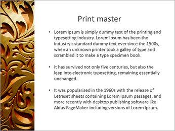 Ornement d'or classique Modèles des présentations  PowerPoint - Diapositives 76
