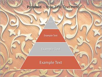 Ornement d'or sur un fond rouge Modèles des présentations  PowerPoint - Diapositives 10