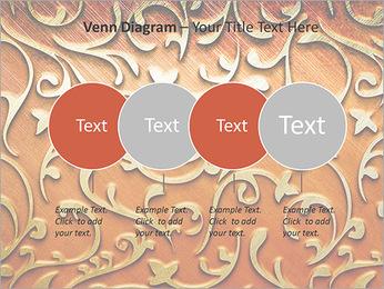 Ornement d'or sur un fond rouge Modèles des présentations  PowerPoint - Diapositives 12
