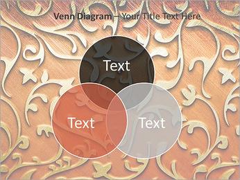Ornement d'or sur un fond rouge Modèles des présentations  PowerPoint - Diapositives 13