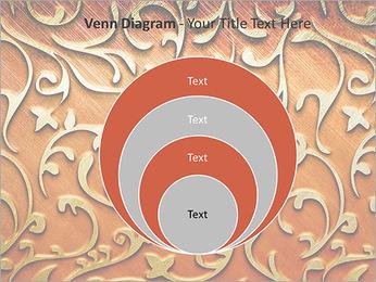 Ornement d'or sur un fond rouge Modèles des présentations  PowerPoint - Diapositives 14