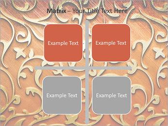 Ornement d'or sur un fond rouge Modèles des présentations  PowerPoint - Diapositives 17