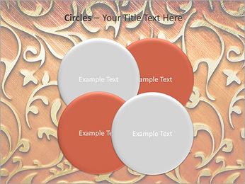 Ornement d'or sur un fond rouge Modèles des présentations  PowerPoint - Diapositives 18
