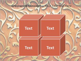 Ornement d'or sur un fond rouge Modèles des présentations  PowerPoint - Diapositives 19