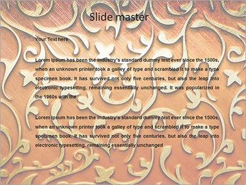 Ornement d'or sur un fond rouge Modèles des présentations  PowerPoint - Diapositives 2