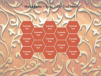 Ornement d'or sur un fond rouge Modèles des présentations  PowerPoint - Diapositives 24