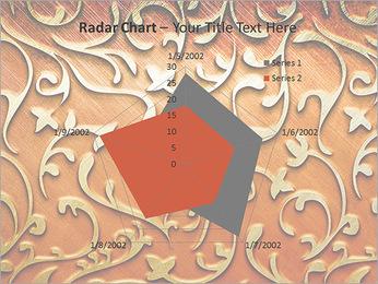 Ornement d'or sur un fond rouge Modèles des présentations  PowerPoint - Diapositives 31