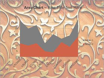 Ornement d'or sur un fond rouge Modèles des présentations  PowerPoint - Diapositives 33
