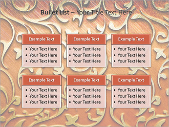 Ornement d'or sur un fond rouge Modèles des présentations  PowerPoint - Diapositives 36