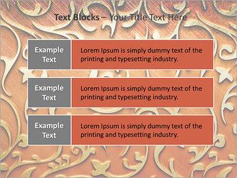 Ornement d'or sur un fond rouge Modèles des présentations  PowerPoint - Diapositives 38