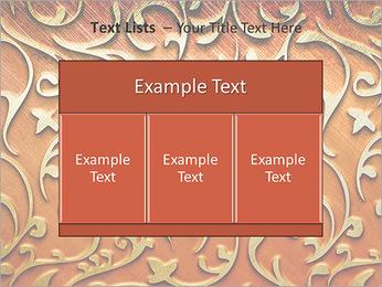 Ornement d'or sur un fond rouge Modèles des présentations  PowerPoint - Diapositives 39