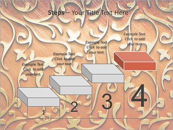 Ornement d'or sur un fond rouge Modèles des présentations  PowerPoint - Diapositives 44