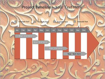 Ornement d'or sur un fond rouge Modèles des présentations  PowerPoint - Diapositives 5