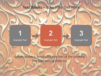 Ornement d'or sur un fond rouge Modèles des présentations  PowerPoint - Diapositives 51
