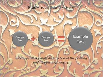 Ornement d'or sur un fond rouge Modèles des présentations  PowerPoint - Diapositives 55