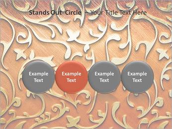 Ornement d'or sur un fond rouge Modèles des présentations  PowerPoint - Diapositives 56