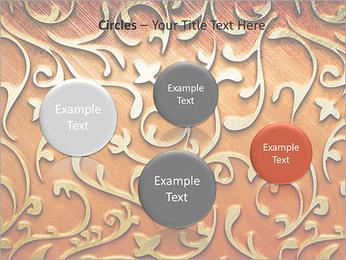 Ornement d'or sur un fond rouge Modèles des présentations  PowerPoint - Diapositives 57