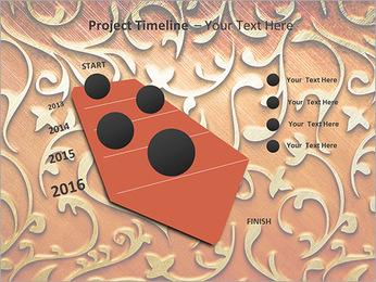 Ornement d'or sur un fond rouge Modèles des présentations  PowerPoint - Diapositives 6
