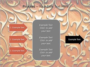 Ornement d'or sur un fond rouge Modèles des présentations  PowerPoint - Diapositives 65