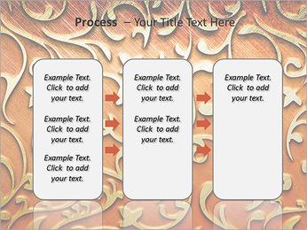 Ornement d'or sur un fond rouge Modèles des présentations  PowerPoint - Diapositives 66