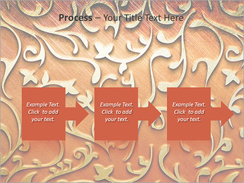 Ornement d'or sur un fond rouge Modèles des présentations  PowerPoint - Diapositives 68
