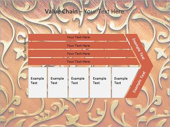 Ornement d'or sur un fond rouge Modèles des présentations  PowerPoint - Diapositives 7