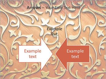 Ornement d'or sur un fond rouge Modèles des présentations  PowerPoint - Diapositives 70