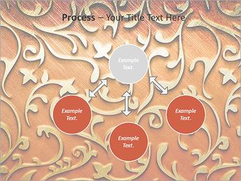 Ornement d'or sur un fond rouge Modèles des présentations  PowerPoint - Diapositives 71