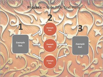 Ornement d'or sur un fond rouge Modèles des présentations  PowerPoint - Diapositives 72