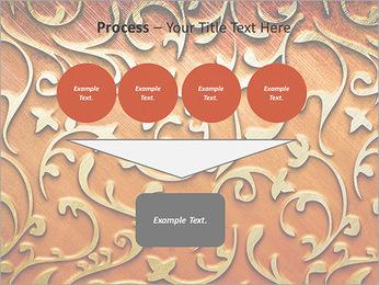 Ornement d'or sur un fond rouge Modèles des présentations  PowerPoint - Diapositives 73