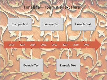 Ornement d'or sur un fond rouge Modèles des présentations  PowerPoint - Diapositives 8